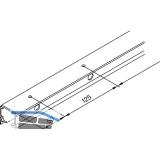 EKU DIVIDO 100 Combi-Laufschiene gelocht, Länge 2500 mm, Aluminium
