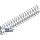 EKU DIVIDO 100 Distanzschiene zu Combi-Laufschiene,Länge 2000 mm,Kunststoff grau