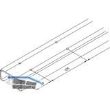 EKU DIVIDO 100 Doppellaufschiene gelocht, Länge 2500 mm, Aluminium eloxiert