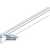 EKU DIVIDO 100 Zwischenblende zu Doppellaufschiene,Länge 2500 mm, Alu eloxiert