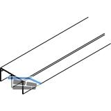 EKU DIVIDO 80 Doppelführungsschiene, Länge 2500 mm, Aluminium eloxiert