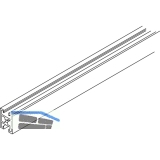 EKU DIVIDO Rahmensprosse Frontunterteilung horizontal,Länge 2500 mm,Alu eloxiert