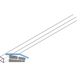 EKU DIVIDO Rahmenstirnprofil,zu Rahmenprofil vertikal, Länge 2500, Alu eloxiert