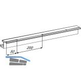 EKU REGAL - A 25 H/GR Einfach- Laufschiene, Alu, gelocht, L - 2500