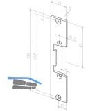 Flachschließblech kurz KL, 24 x 130 x 3 mm, 09635-01, Edelstahl