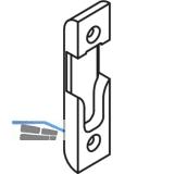 Schließteil für Rollzapfen, Stulp 16 mm, Falz 4 mm, verzinkt silberfärbig