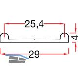 SCHÜCO DoppeL - Laufschiene unten, 4 x 29, Aluminium eloxiert