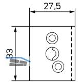 Sprossenkupplung z. Aufschrauben f. Sprossenkreuz,Kunststoff dunkelbraun (10992)