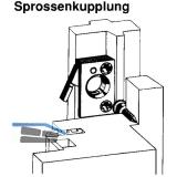 Sprossenkupplung für Sprossenrahmen, Kunststoff dunkelbraun (11153)