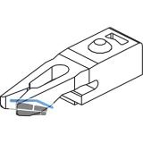 EKU CLIPO 10/15 Stopper mit Rückhaltefeder, Kunststoff grau