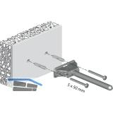 Tablarträger Triade, Tablarstärke 25 mm, Bohrtiefe 150 mm, Zinkdruckguss/