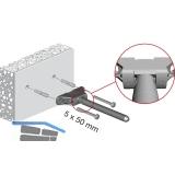Tablarträger Triade Mini,Tablarstärke 25 mm,Bohrtiefe 150 mm,Zinkdruckguss/