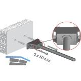 Tablarträger Triade XXL,Tablarstärke 40 mm, Bohrtiefe 285 mm,Zinkdruckguss/