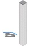 Tischfuß 70 x 70 mm, Länge 420 mm,Alu Edelstahl Effekt,Platte Edelstahl 70x70 mm