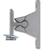 Türhalter m. Klemmmechanismus, Wandabstand 35 mm, Zamak vermessingt