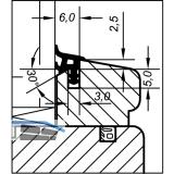 Verglasungsdichtung ACA 6008 für Holzfenster, Kunststoff beige