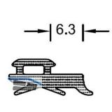 Verglasungsdichtung außen, auf Maß geschnitten, Kunstst. APTK schwarz (750004/R)