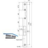 Schließblech gerade 24/270/3 mm f. E-Öffner