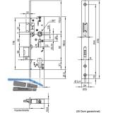 Fluchttürschloss WILKA 6668, 2-flügelig, Funktion E, DM 35,universal, EN179/1125