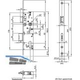 Fluchttürschloss WILKA 6678, 2-flügelig, Funktion B, DM 35, links, EN179/1125