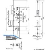 Fluchttürschloss WILKA 6667, 1-flügelig, Funktion E, DM 35,universal, EN179/1125