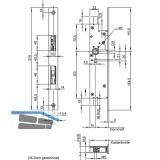Fluchttürtreibriegel WILKA 6663, DM 35 mm, Stulp 270 x 24 x 3 mm, Edelstahl