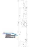 MFV-Schloss Schwenkriegel autoLock M2 AV3/EAV3 DIN, links, DM 65, verz. silber