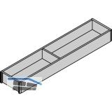 BLUM AMBIA-LINE Schubkastenrahmen schmal, NL450mm, B100mm, Bardolino Eiche