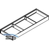 BLUM AMBIA-LINE Schubkastenrahmen breit, NL600mm, B200mm, Stahl Oriongrau