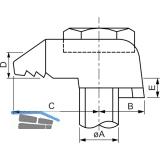 BEAM CLAMP BA1G10 Stahlträgerklemme M10 Sphaeroguss feuerverzinkt mit Zulassung