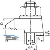 BEAM CLAMP BB1G12 Stahlträgerklemme M12 Sphaeroguss feuerverzinkt mit Zulassung