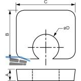 BEAM CLAMP Distanzstück BF1G12 M12 H= 6mm Stahl feuerverzinkt