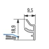 Design Alu-Zwischenlamelle 5000 mm, Edelstahl Effekt