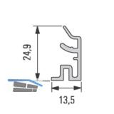 Design Alu-Sockelprofil unten 5000 mm, Edelstahl Effekt