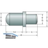 Aufdruck- Federbolzen, 10 mm, (1021)