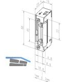 Türöffner 118E340 mit verstärkter Fallenfeder ohne Arretierung