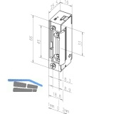 Türöffner 13805 FaFix 12V DC ohne Schließblech