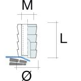 Einschlagmuffe M4; 8,5 x 10,2 mm; Kunststoff