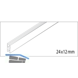 EKU CLIPO 35 GK/GKK IS Glasfixierungsprofil - Länge 2500, Aluminium eloxiert
