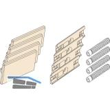 EKU REGAL - C Abdeckkappen Set zu DoppeL - Laufschiene, Kunststoff grau