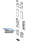 BLUM LEGRABOX Fronthalter Innenauszug m. Einschubelement H C,  Oriongrau