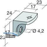 Schrankverbinder Corner 2, 23 x 23 x 24 mm, Kunststoff beige