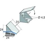 Schrankverbinder Corner 3, mit Klappe und 2 Senkbohrungen ø4,5, KS beige