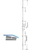 MFV-Schloss GU Europa R4, DM 65 mm, Stulp 2285 x 16 x 3 mm eckig, silberfärbig