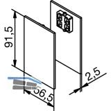 Abdeckkappen für Abstandsprofil Edelstahl-Effekt für Glas