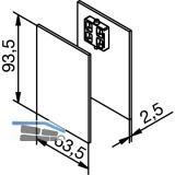 Abdeckkappen für Aufnahmeprofil Glas-Seitenteil Edelstahleffekt