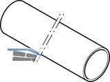Geberit PE Rohr d=45 Länge 1 m zu Wand