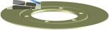 HL083.P0E Dichtflansch PVC d 287mm