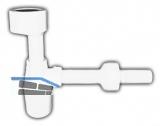 HL130/30 Urinalsifon DN32 m. Anschl.manschette u. Rosette