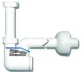 HL135/30 WT-u. Bidet-Sifon DN32x5/4 m. Reinigungseinsatz u. Ro